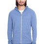 Threadfast Apparel Mens Full Zip Hooded Sweatshirt Hoodie - Navy Blue