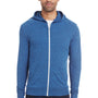 Threadfast Apparel Mens Full Zip Hooded Sweatshirt Hoodie - Royal Black