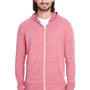 Threadfast Apparel Mens Full Zip Hooded Sweatshirt Hoodie - Red