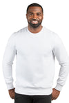 Threadfast Apparel 320C Mens Ultimate Fleece Crewneck Sweatshirt White Front