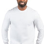 Threadfast Apparel Mens Ultimate Fleece Crewneck Sweatshirt - White