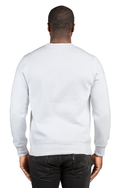 Threadfast Apparel 320C Mens Ultimate Fleece Crewneck Sweatshirt White Back
