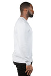 Threadfast Apparel 320C Mens Ultimate Fleece Crewneck Sweatshirt White Side