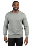 Threadfast Apparel 320C Mens Ultimate Fleece Crewneck Sweatshirt Heather Grey Front