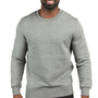 Threadfast Apparel Mens Ultimate Fleece Crewneck Sweatshirt - Heather Grey