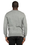 Threadfast Apparel 320C Mens Ultimate Fleece Crewneck Sweatshirt Heather Grey Back
