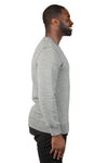 Threadfast Apparel 320C Mens Ultimate Fleece Crewneck Sweatshirt Heather Grey Side