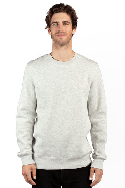 Threadfast Apparel 320C Mens Ultimate Fleece Crewneck Sweatshirt Heather Oatmeal Front