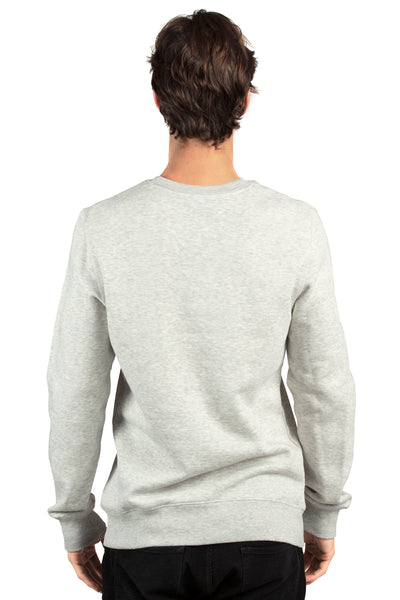 Threadfast Apparel 320C Mens Ultimate Fleece Crewneck Sweatshirt Heather Oatmeal Back