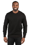 Threadfast Apparel 320C Mens Ultimate Fleece Crewneck Sweatshirt Black Front
