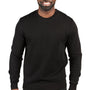 Threadfast Apparel Mens Ultimate Fleece Crewneck Sweatshirt - Black