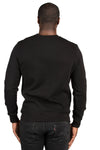 Threadfast Apparel 320C Mens Ultimate Fleece Crewneck Sweatshirt Black Back