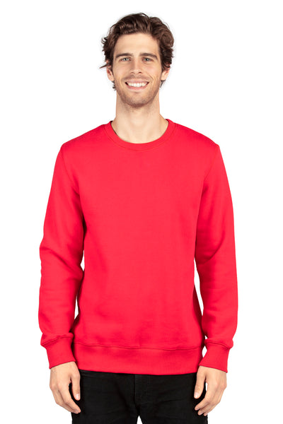 Threadfast Apparel 320C Mens Ultimate Fleece Crewneck Sweatshirt Red Front