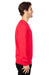 Threadfast Apparel 320C Mens Ultimate Fleece Crewneck Sweatshirt Red Side