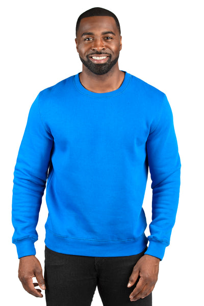 Threadfast Apparel 320C Mens Ultimate Fleece Crewneck Sweatshirt Royal Blue Front