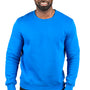 Threadfast Apparel Mens Ultimate Fleece Crewneck Sweatshirt - Royal Blue