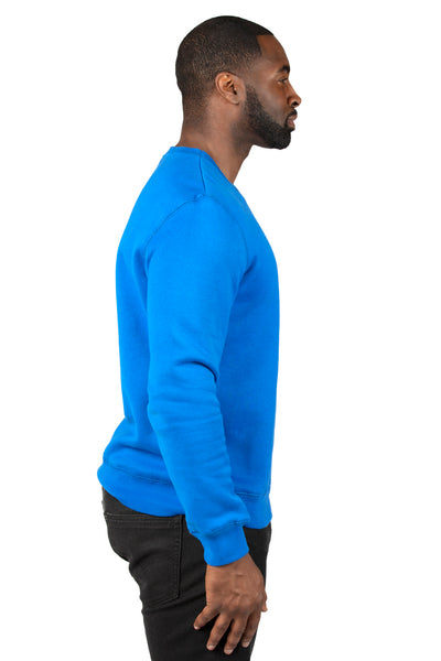 Threadfast Apparel 320C Mens Ultimate Fleece Crewneck Sweatshirt Royal Blue Side