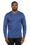 Threadfast Apparel 320C Mens Ultimate Fleece Crewneck Sweatshirt Navy Blue Front