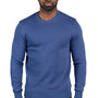 Threadfast Apparel Mens Ultimate Fleece Crewneck Sweatshirt - Navy Blue