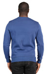 Threadfast Apparel 320C Mens Ultimate Fleece Crewneck Sweatshirt Navy Blue Back