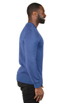 Threadfast Apparel 320C Mens Ultimate Fleece Crewneck Sweatshirt Navy Blue Side