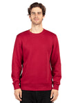 Threadfast Apparel 320C Mens Ultimate Fleece Crewneck Sweatshirt Burgundy Front