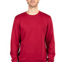 Threadfast Apparel Mens Ultimate Fleece Crewneck Sweatshirt - Burgundy