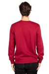 Threadfast Apparel 320C Mens Ultimate Fleece Crewneck Sweatshirt Burgundy Back