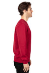Threadfast Apparel 320C Mens Ultimate Fleece Crewneck Sweatshirt Burgundy Side