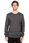 Threadfast Apparel 320C Mens Ultimate Fleece Crewneck Sweatshirt Heather Charcoal Grey Front