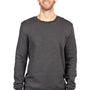 Threadfast Apparel Mens Ultimate Fleece Crewneck Sweatshirt - Heather Charcoal Grey