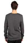 Threadfast Apparel 320C Mens Ultimate Fleece Crewneck Sweatshirt Heather Charcoal Grey Back