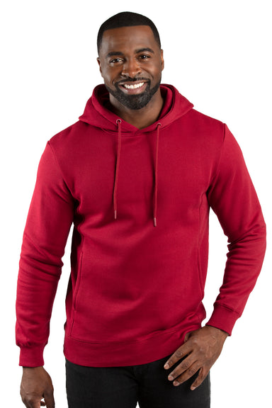 Threadfast Apparel 320H Mens Ultimate Fleece Hooded Sweatshirt Hoodie Burgundy Front