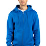 Threadfast Apparel Mens Ultimate Fleece Full Zip Hooded Sweatshirt Hoodie - Royal Blue