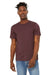 Bella + Canvas BC3301 Jersey Short Sleeve Crewneck T-Shirt Heather Maroon Front