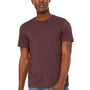 Bella + Canvas Mens Jersey Short Sleeve Crewneck T-Shirt - Heather Maroon