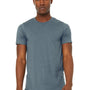 Bella + Canvas Mens Jersey Short Sleeve Crewneck T-Shirt - Heather Slate Blue