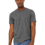 Bella + Canvas Mens Jersey Short Sleeve Crewneck T-Shirt - Heather Deep Grey