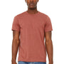Bella + Canvas Mens Jersey Short Sleeve Crewneck T-Shirt - Heather Clay Red