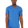 Bella + Canvas Mens Jersey Short Sleeve Crewneck T-Shirt - Heather Columbia Blue