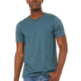 Bella + Canvas Mens Jersey Short Sleeve Crewneck T-Shirt - Heather Deep Teal Blue