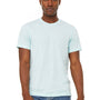 Bella + Canvas Mens Jersey Short Sleeve Crewneck T-Shirt - Heather Ice Blue
