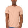 Bella + Canvas Mens Jersey Short Sleeve Crewneck T-Shirt - Heather Peach