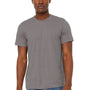 Bella + Canvas Mens Jersey Short Sleeve Crewneck T-Shirt - Heather Storm Grey