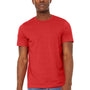Bella + Canvas Mens Jersey Short Sleeve Crewneck T-Shirt - Heather Red