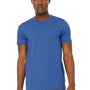 Bella + Canvas Mens Jersey Short Sleeve Crewneck T-Shirt - Heather True Royal Blue