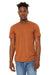 Bella + Canvas BC3301 Jersey Short Sleeve Crewneck T-Shirt Heather Autumn Orange Front