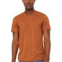 Bella + Canvas Mens Jersey Short Sleeve Crewneck T-Shirt - Heather Autumn Orange