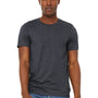 Bella + Canvas Mens Jersey Short Sleeve Crewneck T-Shirt - Heather Midnight Navy Blue
