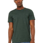 Bella + Canvas Mens Jersey Short Sleeve Crewneck T-Shirt - Heather Forest Green